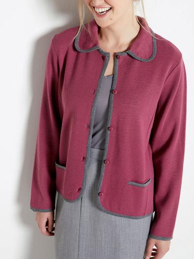 Veste bicolore en maille milano