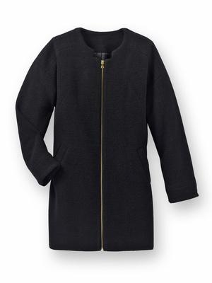 Manteau 30% laine, forme ovoïde