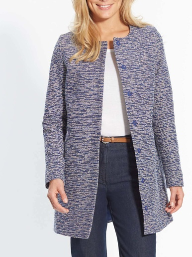 Manteau jacquard, poitrine standard - Balsamik - Jacquard bleu