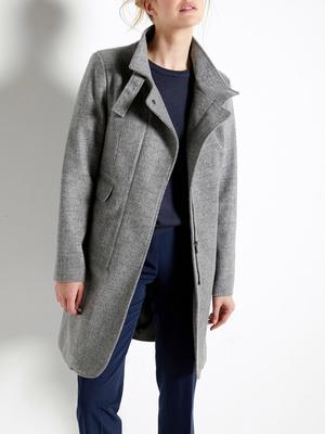 Manteau à col montant à boucle