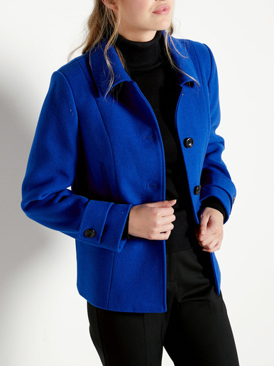 Manteau court 43% laine