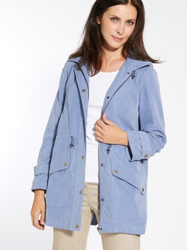 Parka déperlante à capuche amovible - Charmance - Bleu