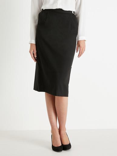 Jupe taille réglable stature + d'1,60m - Charmance - Noir