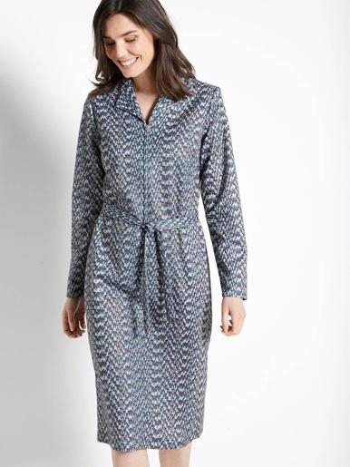 Robe zippée manches longues