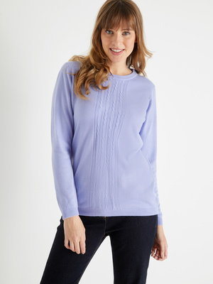 Pull toucher cachemire manches longues