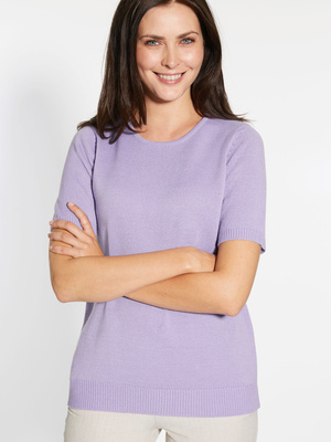 Pull manches courtes encolure ronde