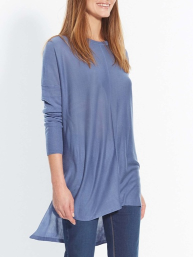 Pull large, vous mesurez moins d'1,60m - secrets de mode - Bleu