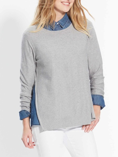 Pull maille granitée, 5% cachemire