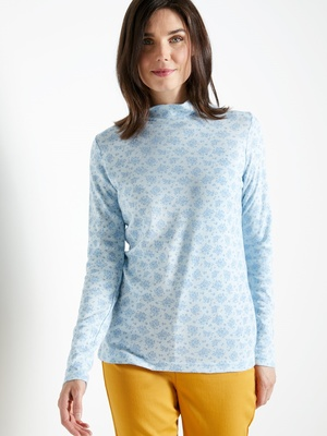 Tee-shirt col montant maille courtelle