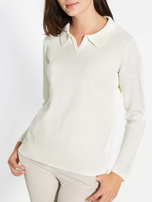 Pull-polo manches longues
