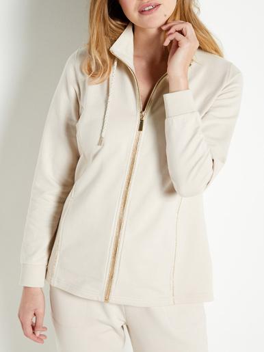 Veste zippée molleton pur coton