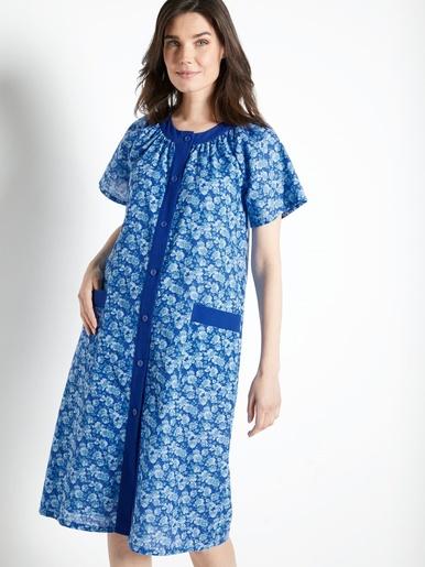 Tablier forme housse - Charmance - Imprimé bleu