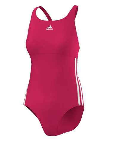 Maillot 1 pièce 3-stripes authentic - Adidas - Rose