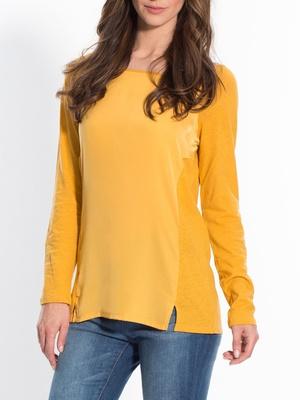 Tee-shirt tunique, bi-matière