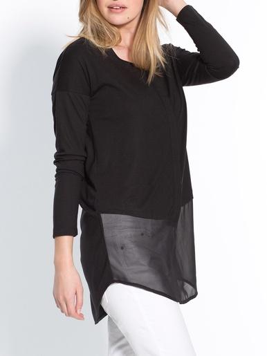 Tee-shirt tunique vous mesurez - d'1,60m -  - Noir