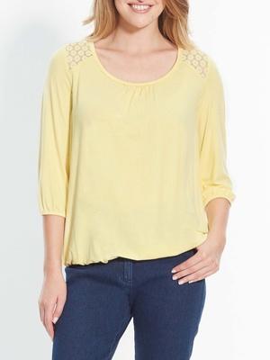 Tee-shirt avec dentelle aux épaules