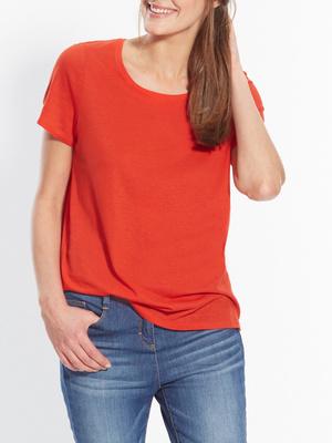 Tee-shirt uni, manches courtes