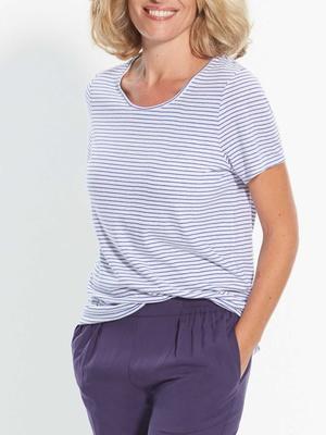 Tee-shirt rayé, manches courtes