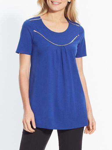 Tee-shirt tunique - Créaline - Bleu