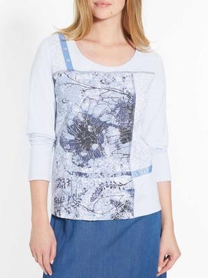 Tee-shirt avec dentelle, pur coton