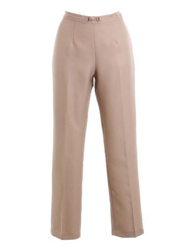 Pantalon droit, vous mesurez - d'1,60 m. - Charmance - Beige