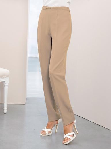 Pantalon droit , stature + de 1,69 m. - Charmance - Beige
