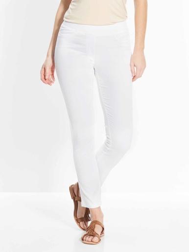 Pantalon uni mollets forts -  - Blanc