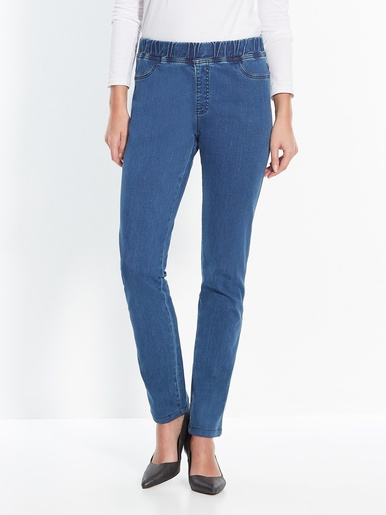 Pantalon denim extensible mollet forts