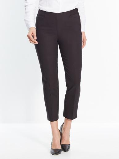 Pantalon cheville plastron gainant - Les essentiels - Noir