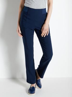 Pantalon effet ventre plat tissu uni