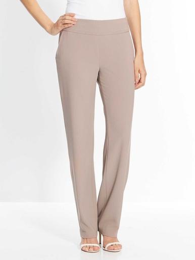 Pantalon droit, vous mesurez - d'1,60m - Les essentiels - Beige/taupe
