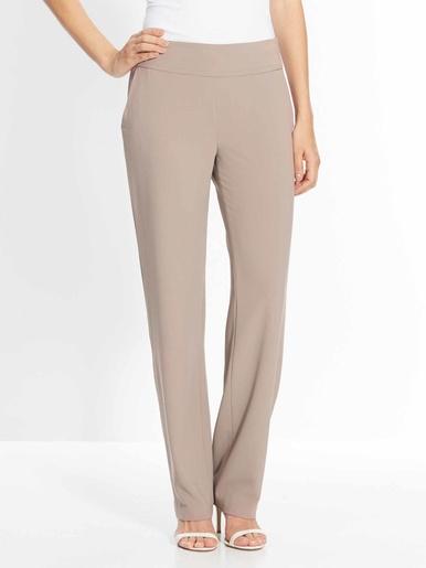 Pantalon droit, vous mesurez + d'1,60m - Les essentiels - Beige