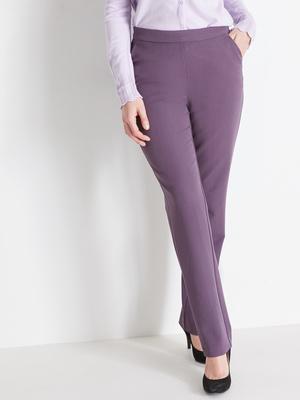Pantalon droit effet ventre plat