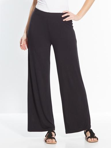 Pantalon large en maille extensible