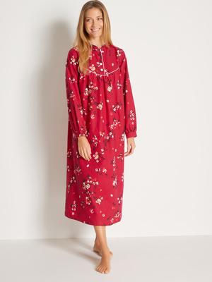 Chemise de nuit en coton émerisé