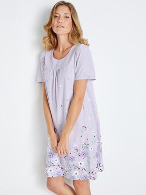 Chemise de nuit courte manches courtes