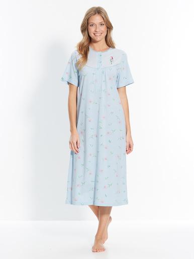 Chemise de nuit longue pur coton