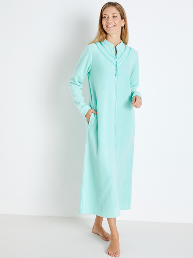 Robe de chambre zippée