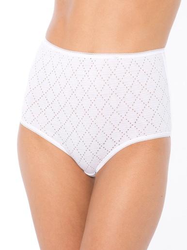 Culottes pur coton lot de 5 - Lingerelle - Blanc