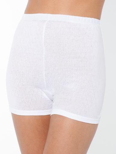 Culottes boxer pur coton lot de 3 - Lingerelle - Blanc