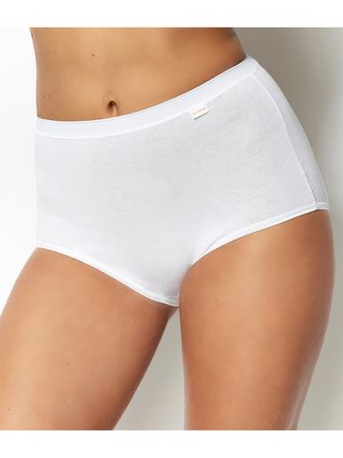Lot de 3 culottes maxi Simplement Coton - Sans Complexe - Blanc