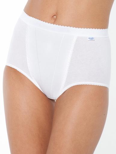 Culottes gainantes forme haute lot de 3 - Sloggi - Blanc
