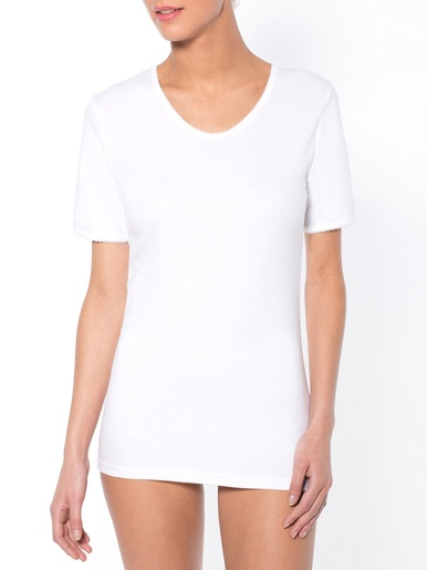 Chemises manches courtes lot de 2 - Lingerelle - Blanc