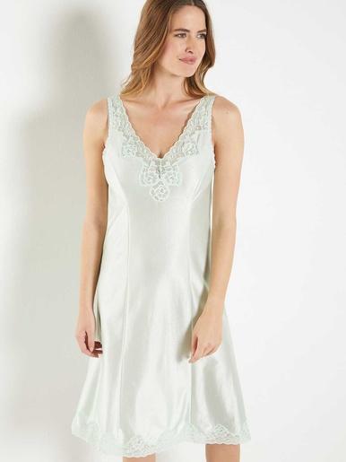 Fond de robe maille satinée - Lingerelle - Vert