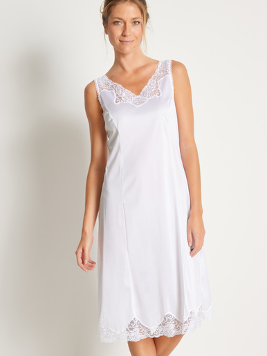 Fond de robe maille satinée - Lingerelle - Blanc