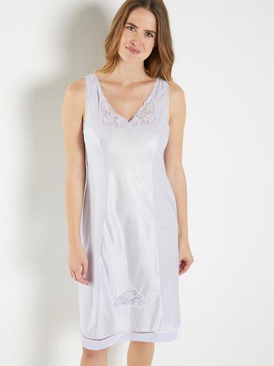 Fond de robe maille satinée 105cm - Lingerelle - Parme