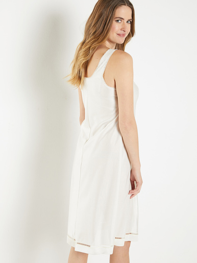 Fond de robe maille satinée 105cm - Lingerelle - Naturel