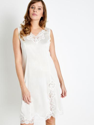 Fond de robe maille satinée long 90cm - Lingerelle - Beige
