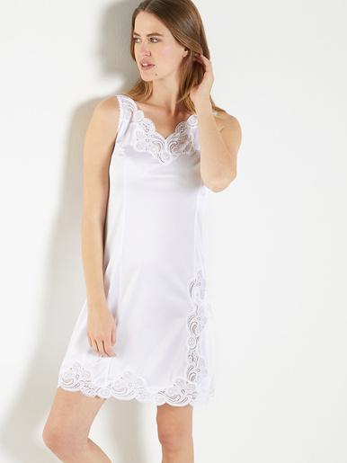Fond de robe maille satinée long 90cm - Lingerelle - Blanc