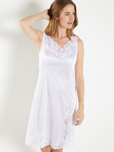 Fond de robe maille satinée long 100cm - Lingerelle - Blanc